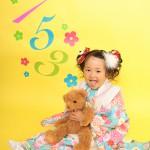 大阪の七五三写真撮影スタジオ・ハニーアンドクランチの3歳女の子和装のフォトギャラリーA078