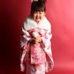 大阪の七五三写真撮影スタジオ・ハニーアンドクランチの3歳女の子和装のフォトギャラリーA079