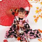 A081大阪の七五三写真撮影スタジオ・ハニーアンドクランチの3歳女の子和装のフォトギャラリー