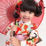 大阪の七五三写真撮影スタジオ・ハニーアンドクランチの3歳女の子和装のフォトギャラリーA088
