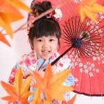 大阪の七五三写真撮影スタジオ・ハニーアンドクランチの3歳女の子和装のフォトギャラリーA090