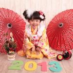 大阪の七五三写真撮影スタジオ・ハニーアンドクランチの3歳女の子和装のフォトギャラリーA091