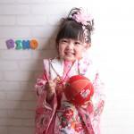 大阪の七五三写真撮影スタジオ・ハニーアンドクランチの3歳女の子和装のフォトギャラリーA097