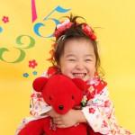 大阪の七五三写真撮影スタジオ・ハニーアンドクランチの3歳女の子和装のフォトギャラリーA098