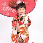 大阪の七五三写真撮影スタジオ・ハニーアンドクランチの3歳女の子和装のフォトギャラリーA099