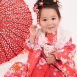 大阪の七五三写真撮影スタジオ・ハニーアンドクランチの3歳女の子和装のフォトギャラリーA102