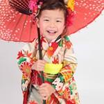 大阪の七五三写真撮影スタジオ・ハニーアンドクランチの3歳女の子和装のフォトギャラリーA103