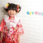 大阪の七五三写真撮影スタジオ・ハニーアンドクランチの3歳女の子和装のフォトギャラリーA105