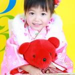 大阪の七五三写真撮影スタジオ・ハニーアンドクランチの3歳女の子和装のフォトギャラリーA106