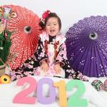 大阪の七五三写真撮影スタジオ・ハニーアンドクランチの3歳女の子和装のフォトギャラリーA107