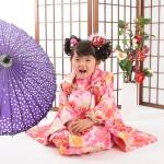 大阪の七五三写真撮影スタジオ・ハニーアンドクランチの3歳女の子和装のフォトギャラリーA108
