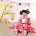 大阪の七五三写真撮影スタジオ・ハニーアンドクランチの3歳女の子和装のフォトギャラリーA110