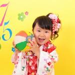 大阪の七五三写真撮影スタジオ・ハニーアンドクランチの3歳女の子和装のフォトギャラリーA111