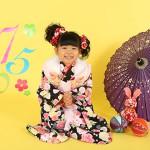 大阪の七五三写真撮影スタジオ・ハニーアンドクランチの3歳女の子和装のフォトギャラリーA112