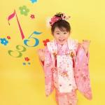 大阪の七五三写真撮影スタジオ・ハニーアンドクランチの3歳女の子和装のフォトギャラリーA113