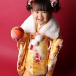 大阪の七五三写真撮影スタジオ・ハニーアンドクランチの3歳女の子和装のフォトギャラリーA115