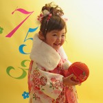 大阪の七五三写真撮影スタジオ・ハニーアンドクランチの3歳女の子和装のフォトギャラリーA119