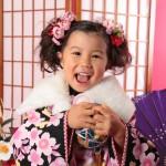 大阪の七五三写真撮影スタジオ・ハニーアンドクランチの3歳女の子和装のフォトギャラリーA120