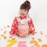 大阪の七五三写真撮影スタジオ・ハニーアンドクランチの3歳女の子和装のフォトギャラリーA125