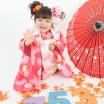 大阪の七五三写真撮影スタジオ・ハニーアンドクランチの3歳女の子和装のフォトギャラリーA127