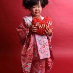 大阪の七五三写真撮影スタジオ・ハニーアンドクランチの3歳女の子和装のフォトギャラリーA129
