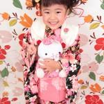 大阪の七五三写真撮影スタジオ・ハニーアンドクランチの3歳女の子和装のフォトギャラリーA132