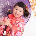 大阪の七五三写真撮影スタジオ・ハニーアンドクランチの3歳女の子和装のフォトギャラリーA133