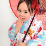 大阪の七五三写真撮影スタジオ・ハニーアンドクランチの3歳女の子和装のフォトギャラリーA138