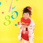 大阪の七五三写真撮影スタジオ・ハニーアンドクランチの3歳女の子和装のフォトギャラリーA141
