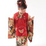 大阪の七五三写真撮影スタジオ・ハニーアンドクランチの3歳女の子和装のフォトギャラリーA142