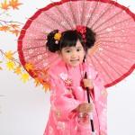 大阪の七五三写真撮影スタジオ・ハニーアンドクランチの3歳女の子和装のフォトギャラリーA143