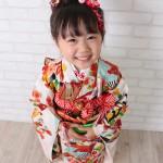 大阪の七五三写真撮影スタジオ・ハニーアンドクランチの3歳女の子和装のフォトギャラリーA147