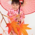 大阪の七五三写真撮影スタジオ・ハニーアンドクランチの3歳女の子和装のフォトギャラリーA149