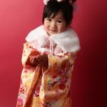 大阪の七五三写真撮影スタジオ・ハニーアンドクランチの3歳女の子和装のフォトギャラリーA150