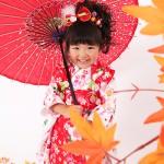 大阪の七五三写真撮影スタジオ・ハニーアンドクランチの3歳女の子和装のフォトギャラリーA153