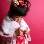 大阪の七五三写真撮影スタジオ・ハニーアンドクランチの3歳女の子和装のフォトギャラリーA154