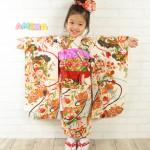 大阪の七五三写真撮影スタジオ・ハニーアンドクランチの3歳女の子和装のフォトギャラリーA156