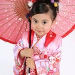 大阪の七五三写真撮影スタジオ・ハニーアンドクランチの3歳女の子和装のフォトギャラリーA158