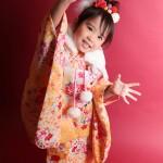 大阪の七五三写真撮影スタジオ・ハニーアンドクランチの3歳女の子和装のフォトギャラリーA160