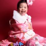 大阪の七五三写真撮影スタジオ・ハニーアンドクランチの3歳女の子和装のフォトギャラリーA161