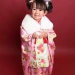 大阪の七五三写真撮影スタジオ・ハニーアンドクランチの3歳女の子和装のフォトギャラリーA164