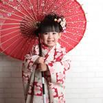 大阪の七五三写真撮影スタジオ・ハニーアンドクランチの3歳女の子和装のフォトギャラリーA166