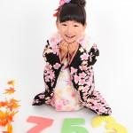 大阪の七五三写真撮影スタジオ・ハニーアンドクランチの3歳女の子和装のフォトギャラリーA169