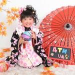 大阪の七五三写真撮影スタジオ・ハニーアンドクランチの3歳女の子和装のフォトギャラリーA174