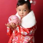 大阪の七五三写真撮影スタジオ・ハニーアンドクランチの3歳女の子和装のフォトギャラリーA175