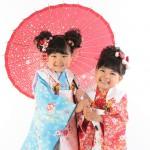 大阪の七五三写真撮影スタジオ・ハニーアンドクランチの3歳女の子和装のフォトギャラリーA178