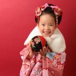 大阪の七五三写真撮影スタジオ・ハニーアンドクランチの3歳女の子和装のフォトギャラリーA182