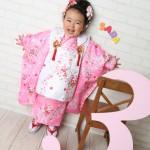 大阪の七五三写真撮影スタジオ・ハニーアンドクランチの3歳女の子和装のフォトギャラリーA186