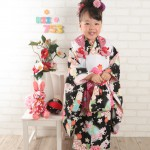 大阪の七五三写真撮影スタジオ・ハニーアンドクランチの3歳女の子和装のフォトギャラリーA190