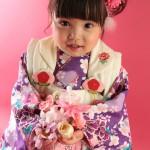 大阪の七五三写真撮影スタジオ・ハニーアンドクランチの3歳女の子和装のフォトギャラリーA191